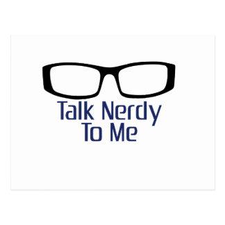 Gespräch Nerdy zu mir Postkarte