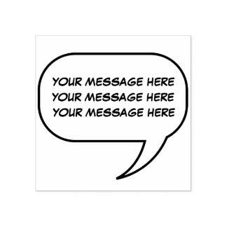 Gespräch rufen aus gummistempel