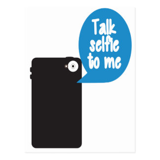 Gespräch Selfie zu mir Postkarte