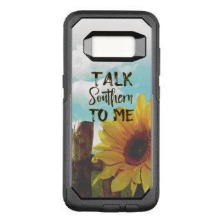 Gespräch südlich zu mir Zitat mit Sonnenblume OtterBox Commuter Samsung Galaxy S8 Hülle