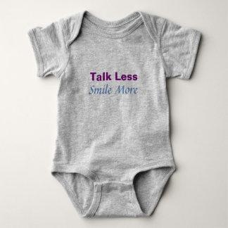 Gespräch weniger Lächeln mehr Bodysuit Baby Strampler