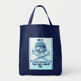 Gespräch wie ein Piraten-Knochen-Taschen Tragetasche