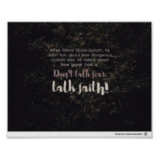 Gesprächs-Glaube Poster