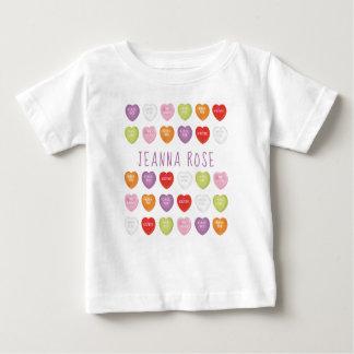 Gesprächs-Herz-personalisiertes Baby-T-Shirt Baby T-shirt