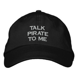 Gesprächs-Pirat zu mir schwarzer Hysteresen-Hut Bestickte Baseballkappe