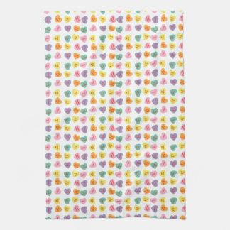 Gesprächs-Süßigkeits-Herz-Geschirrtuch Handtuch