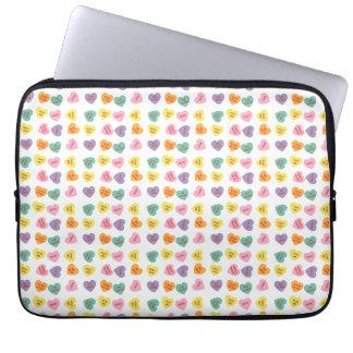 Gesprächs-Süßigkeits-Herz-Laptop-Hülse Laptop Sleeve