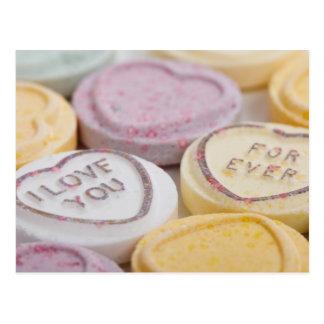 Gesprächsherz-Süßigkeit I Liebe Sie für immer Foto Postkarte