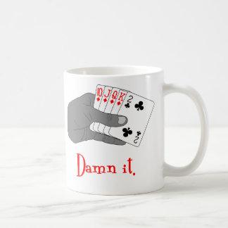 Gesprengt zeichnen Sie Kaffeetasse