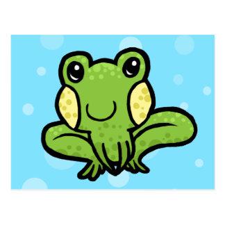 gesprenkelter Frosch des Cartoongrüns Postkarten