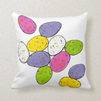 Gesprenkeltes gemalztes Ostern-Süßigkeits-Ei Eggs Kissen