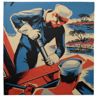 Gestalt für Ihre Marine! Bedruckte Serviette