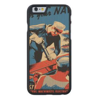 Gestalt für Ihre Marine! Carved® iPhone 6 Hülle Ahorn