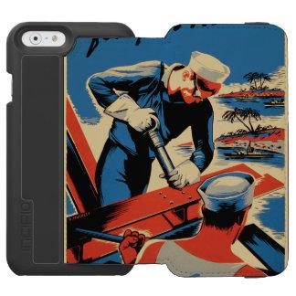 Gestalt für Ihre Marine! Incipio Watson™ iPhone 6 Geldbörsen Hülle