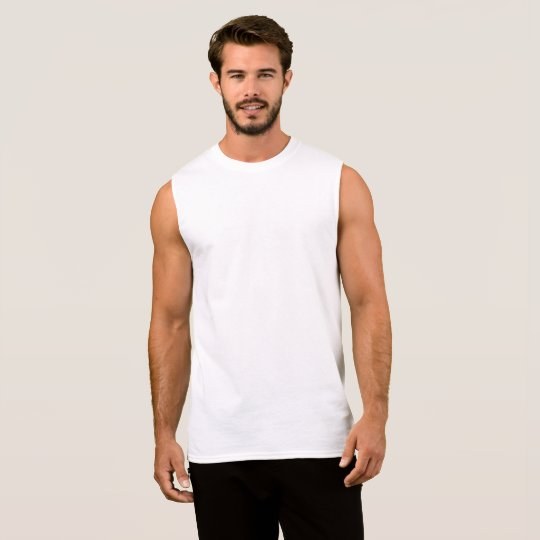 Ärmelloses Baumwoll-Shirt für Männer