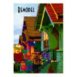 Gestalten Sie Häuser um Visitenkarten Vorlage