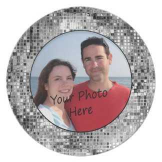 Gestalten Sie Ihr Foto in der schönen silbernen Teller