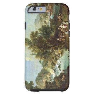 Gestalten Sie mit einem Fluss und Tanzen-Bauern Tough iPhone 6 Hülle