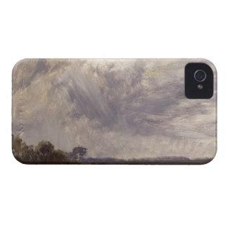 Gestalten Sie mit grauem windigem Himmel, iPhone 4 Hüllen