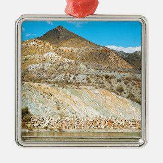 Gestalten Sie Wüste in Almeria, Andalusien, Silbernes Ornament
