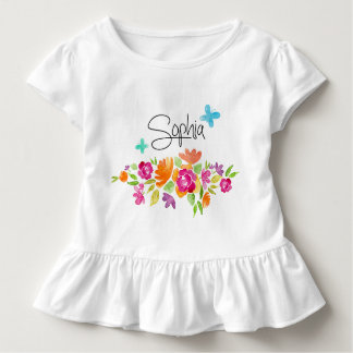 Gestaltung Blumen Sophia Kleinkind T-shirt