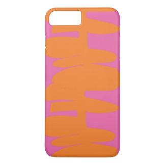 Gestapelt herauf orange u. rosa iPhone Kasten iPhone 8 Plus/7 Plus Hülle