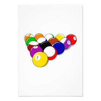 Gestell der Pool-Bälle Individuelle Ankündigungskarte
