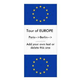 Gestell-Karte mit Flagge von Europa Werbekarte