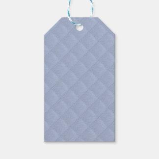 Gestepptes genähtes Muster Alices blaues Quadrat Geschenkanhänger