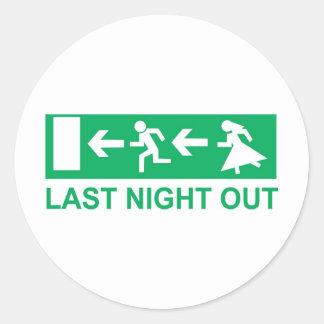 gestern Abend heraus Runde Sticker