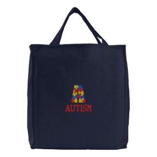 Gestickte Autismus-Bewusstseins-Tasche Bestickte Taschen