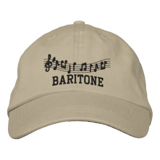 Gestickte Bariton-Musik-Kappe Bestickte Baseballkappe
