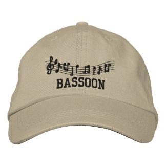 Gestickte Bassoon-Musik-Kappe Bestickte Mütze