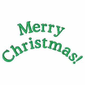Gestickte frohe Weihnacht-Jacke