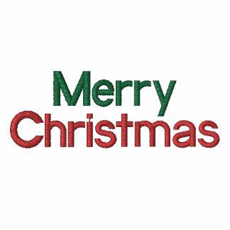 Gestickte frohe Weihnachten Bestickter Damen Reißverschluss Hoodie