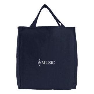 Gestickte Marine-Musik-Taschen-Tasche
