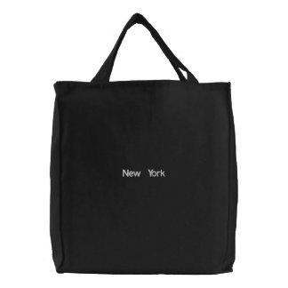 Gestickte New- YorkTaschen-Tasche Leinentasche