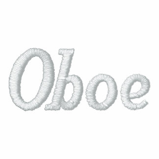 Gestickte Oboe Musik-Jacke