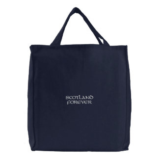 Gestickte Tasche Schottlands für immer