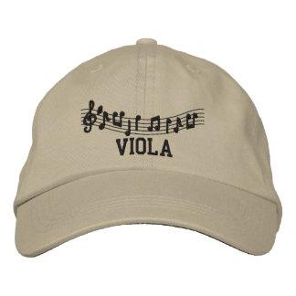 Gestickte Viola-Musik-Kappe Bestickte Kappe
