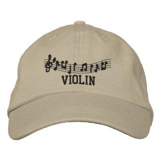 Gestickte Violinen-Musik-Kappe Bestickte Mützen