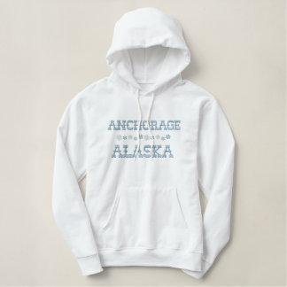 Gestickter Anchorage-AlaskaHoodie Bestickter Hoodie