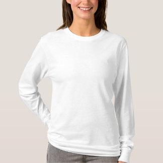 Gestickter langer die Hülsen-T - Shirt der Frauen