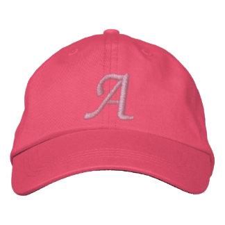 Gestickter Monogramm-Hut Baseballcap