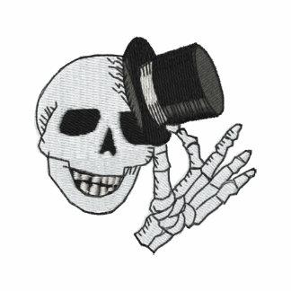 Gestickter Schädel-Zylinder-Herr Besticktes Shirt