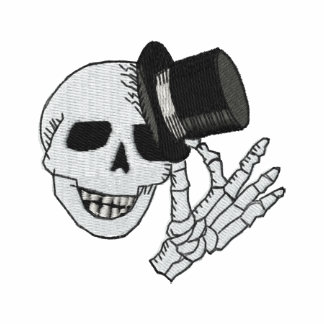 Gestickter Schädel-Zylinder-Herr