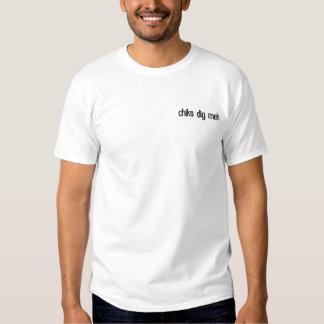 gestickter T - Shirt chiks Grabung meh
