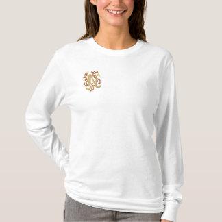 Gestickter T - Shirt Monogramm-Buchstaben N