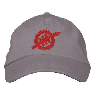 Gestickter WEVO Logo-justierbarer Hut - rotes Logo Bestickte Mützen