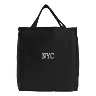 Gesticktes NYC New York City Taschen-Taschen-Schwa